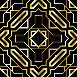 Art deco geometric pattern (1920's style) Stock Vector