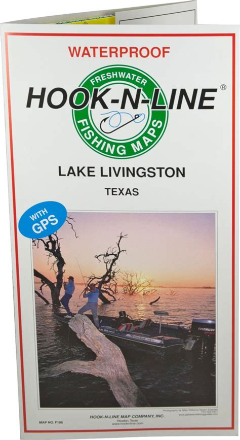 Lake livingston is one of the largest lakes in the state, noted for its white bass population. Hook-N-Line Map F106 Lake Livingston Fishing Map (With GPS ...