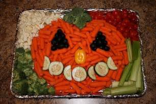 fall platters veggie tray brownie things