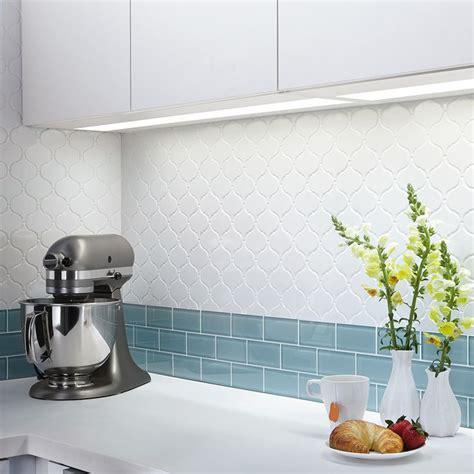 ceramic subway tile kitchen backsplash shop olean vaughn white glazed porcelain mosaic