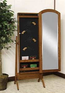 Sliding Mirror Gun Cabinets - Ohio Hardwood Furniture