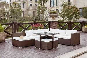 But Salon De Jardin : salon de jardin encastrable marron blanc 10 places fidji ~ Melissatoandfro.com Idées de Décoration