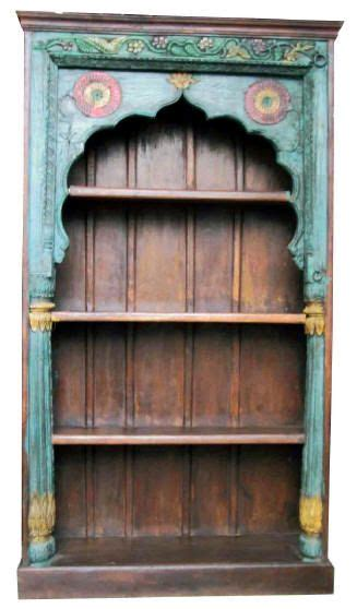 Indian Wood Bookcase by Painted Indian Bookshelf Amazing Storage D