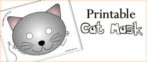 printable animal masks cat mask woo jr kids activities