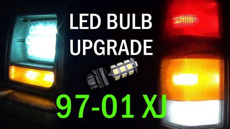 jeep cherokee xj   complete led bulb retrofit youtube