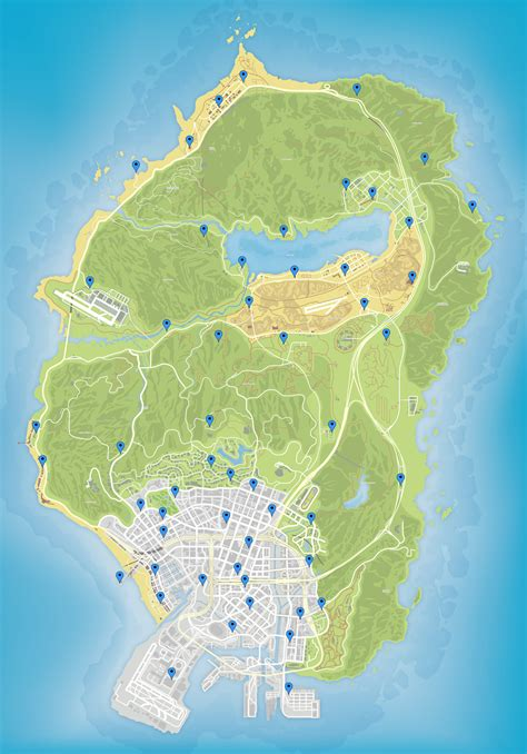 This marks the halfway point of our 54 playing cards locations guide. Basic map of all 54 playing card locations : gtaonline