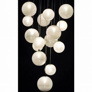 Luminaire Boule Verre : superbe fontaine de lumi re boules de verre de venise souffl luminaire contemporain i ~ Teatrodelosmanantiales.com Idées de Décoration