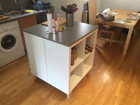 ilots de cuisine mobile un nouvel ilot central cuisine avec kallax
