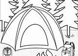 Coloring Camping Nature Worksheets Education Tent Preschool Theme Worksheet Activities sketch template