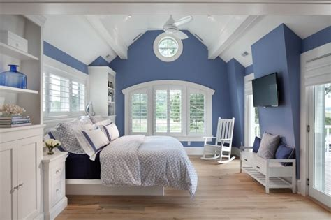 Bedroom Blue Walls White Furniture by Different Blue Shades In The Bedroom With Different Tales