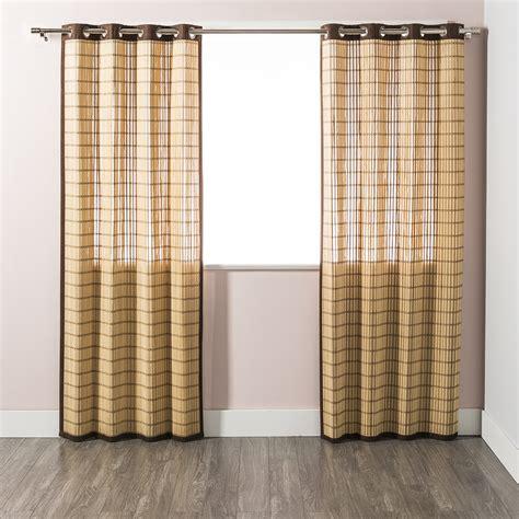 bamboo curtain panels