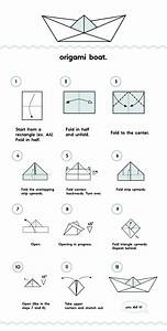 Origami Boat Illustrated Instructions On Behance