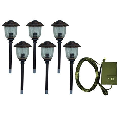 low voltage path lights shop portfolio 6 path light oil rubbed bronze low voltage