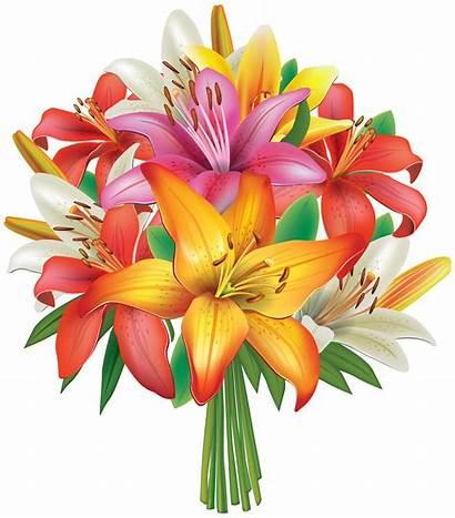 Bouquet Flowers Clipart Lilies Flower Clip Lily