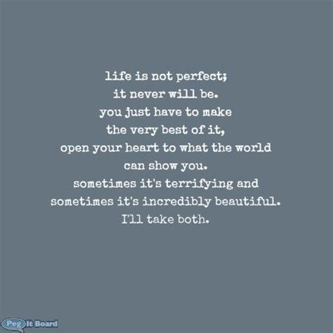 Life Is Not Perfect Quotes