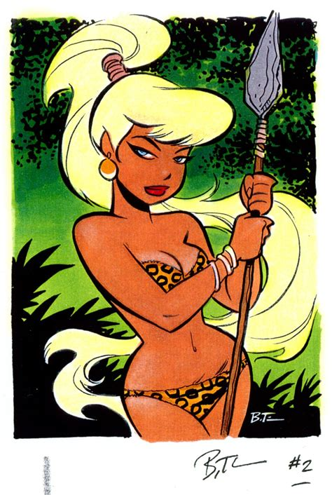 good girl art jungle girl by bruce timm lustful lad
