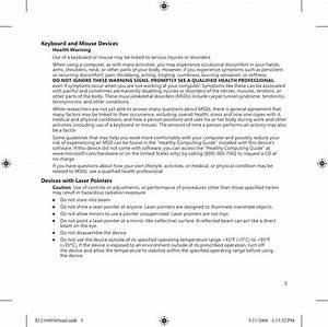 Microsoft 1695 Wireless Keyboard User Manual Statement
