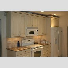 Antique White Cabinets With White Appliances  For The