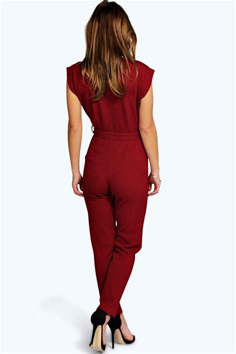 boohoo jumpsuits boohoo womens millie wrap jumpsuit