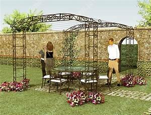 Pergola Pour Plante Grimpante : pergola pour rosier grimpant ma pergola ~ Premium-room.com Idées de Décoration