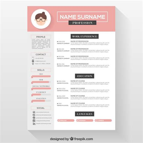 Creative Resume Templates Free Word by Resume Template Reume Templates Professional Cv Format In