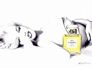 Marilyn Monroe in Chanel No 5 Print of Original Illustration