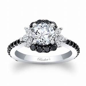 Barkev39s black diamond engagement ring 7930lbk for Black wedding rings with diamonds