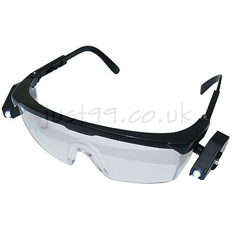 safety glasses with led lights safety glasses with adjustable arms and 2 led lights at just99