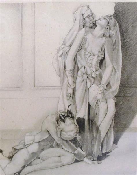 Erotic Art Etching Um 1910 Erotica Signed Ebay