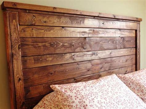 rustic distressed wood queen headboard