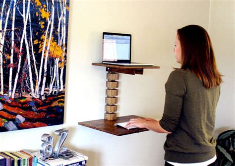 space saving standing desk space saving ideas for a small home office living big in