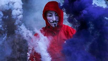 Mask Hoodie Guy Anonymous Smoke Fawkes Wallpapers