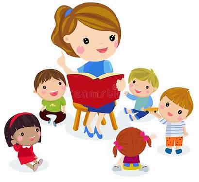 Teacher Class Children Elementary Having Teaching Listening