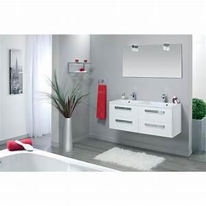 Meuble Vasque 120 : meuble sous vasque seducta 120 cm 4 tiroirs blanc brillant ~ Nature-et-papiers.com Idées de Décoration