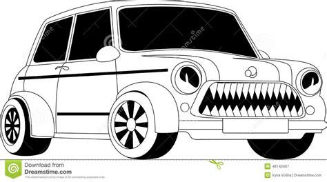 cartoon car black and white cartoon car stock vector image 48140467