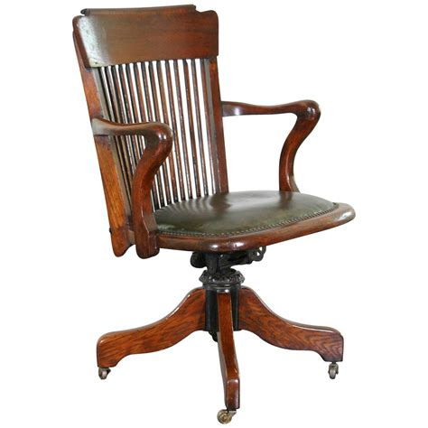1930s american oak desk chair for sale at 1stdibs