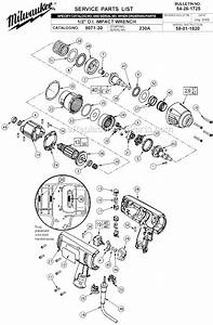 Milwaukee 9071-20 Parts List And Diagram