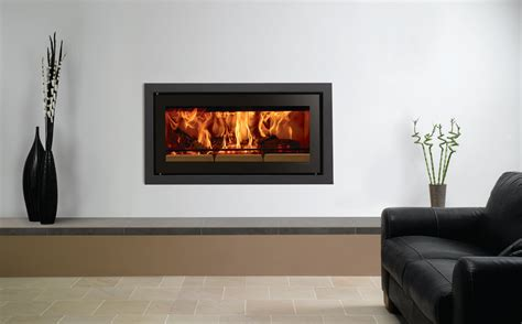 image of tile fireplace surround studio profil inset wood burning fires stovax fires