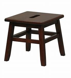 Wooden Step Stool - Walnut in Step Stools