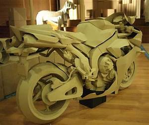 Cardboard Yamaha R1 Model Is So Awesome It Hurts
