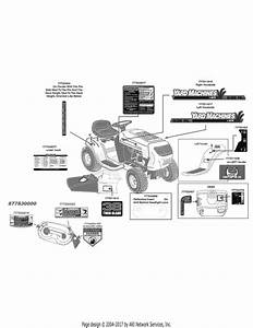 Mtd 13ac762f200  2010  Parts Diagram For Label Map Yard Machines 38 Inch