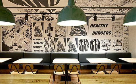 graphic identity   restaurant burgers interior