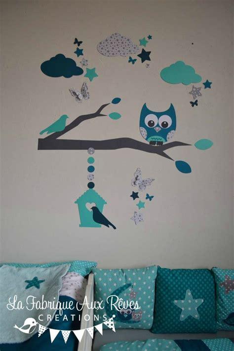 chambre bébé etoile stickers hibou chouette décoration chambre enfant bébé