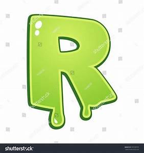 Slimy Font Type Letter R Stock Vector 320589731 - Shutterstock