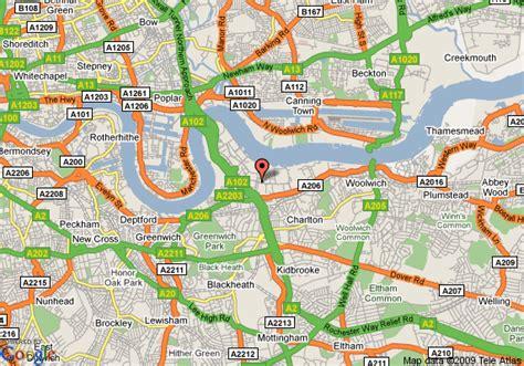 map  express  holiday inn london greenwich east london