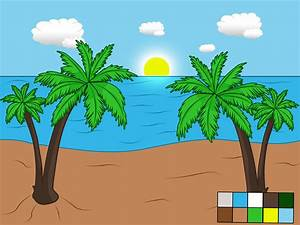How To Draw A Beach Scene  6 Steps  With Pictures