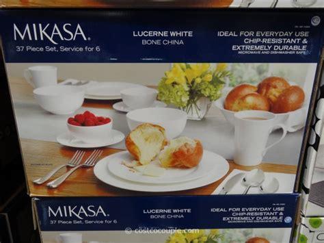 mikasa dinnerware china bone lucerne costco casual costcocouple intense simple versatile formal enough dining well