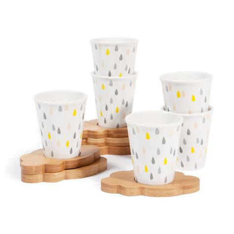 coffret  tasses  soucoupes  cafe nuage maisons du monde