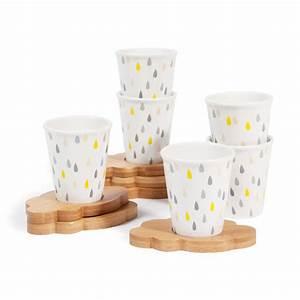coffret 6 tasses et soucoupes a cafe nuage maisons du monde With tasse maison du monde