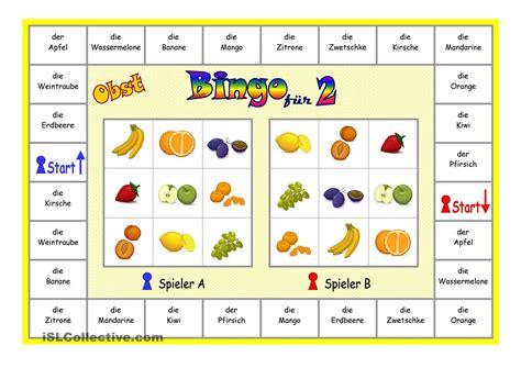 kinderbett für 2 kinder bingo f 252 r 2 spieler obst besch 228 ftigung bingo bingo spiele und bingo f 252 r kinder